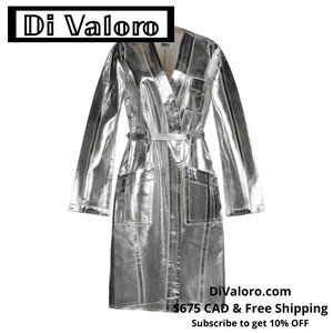 MM6 MAISON MARGIELA Silver Trench Coat